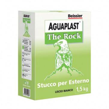 AGUAPLAST THE ROCK STUCCO IN POLVERE LISCIO BIANCO DA ESTERNI 1,5 KG